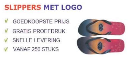 Slippers bedrukken met logo | Promoboer